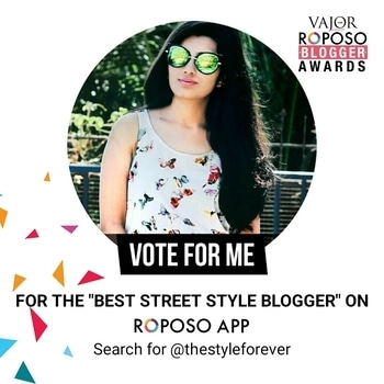 Hey stunners, thanks for all your love and support up till now, but I request you all to kindly shower little more love to vote for me and nominate me as the best street style blogger. This blogger award is too close to my heart so please please show me your love and vote for it 😘 Also I have many surprises and giveaway coming up from tomorrow so tag as much as friends you can 😘😘. To vote just go to my profile and click vote button also don't forget to update your app before you vote, it is necessary so 💖 Thanks all😘😇 #soroposo #soroposolove #blggeraward #streetstyle #mumbai #roposo