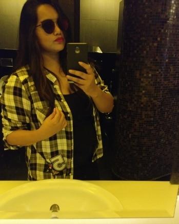 #checkedshirt #party #playyourwardrobe #shadeslover