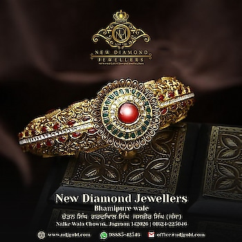 New #diamonds  Jewellers, Jagraon Your #family  Jeweller Since 1943. call or #whatsapp  for #jewellery  #consultation  @98885-42546 Follow us on #facebookpage @Newdiamondjewellers  #gold #diamondjewellery #jewelryonline #necklace #platinum #zircon #preciousstones #bridal-jewellery #bridal-wear #bridal #diamondring #bullion