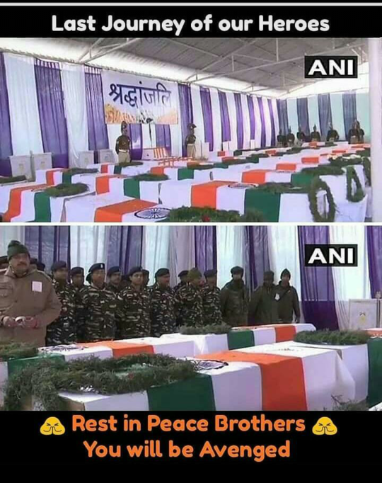 Last Journey Of Our Heroes ..😢😢  Lets Salute Indian Army ..🙇🙏  JAI HIND JAI BHARAT ...🇮🇳