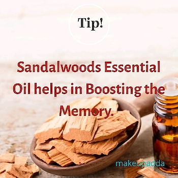 Tip of the Day  . . . Sandalwoods Essential Oil helps in improving the Mental Clarity. Hence, it also helps in boosting the memory.   . . Add a few drops of Sandalwood Essential Oil to your palm and Rub vigorously to release the Aroma when you are Stressed for a Clearer Mind and better Memory. . . . . . . . . . .  #contentcreator #contentwriter  #diyoftheday #diy    #beautyblogger  #beautyinfluencers   #naturalingredients  #aroma #bangalorebeautyinfluencer #makeupadda #indianbeautyblog #indianbeautyblogger #boostingmemory #mentalclarity #stress #aromatherapy #essentialoils #bangalorebeautyblog #bangalorebeautyinfluencer #tipoftheday  #sandalwood #sandalwoodessentialoil