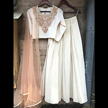 """""""Nothing will happen unless you take the initiative to do it."""" – Akhil Nigam @fizaastudio is now available @talashahyderabad  #indianwedding #indiancouture #hyderabad #talasha #beige #peach #colors #handembroidery #texture #cotton #bereadytoshop DM for customization"""