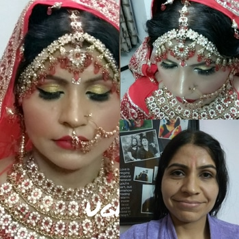 Bridal Makeup done by me.....