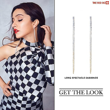 Get the 'Ready to Party' look with our Long Spectacle Earrings à la Shraddha Kapoor💃🏼✨ Head to the link in Bio! ❤️ . . . . . #theredbox #shraddhakapoor #celeblifestyle #getthelook #statementjewellery #blingbling #liveglam #bollywoodfashion #instafashion #ootd