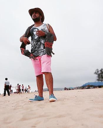 i really am one tough 'sun of a beach' #travel #traveldiaries #goa #beach #beachwear #myway #contrast #roposopost #roposostyle #roposolove #followme #followforfollow #followmeonroposo