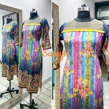 #saanjh #saanjhcollection #summerwear  #summercollections  #kurti  #printedkurtis  #silk  #print-o-mania #collection2017  #lessismore  #frills  #freshfashion  #fresharrivals  #indianfashionstore  #indianfashion  #delhifashion  #details  #designerstudio  #simpleyetelegant  #loveisintheair  #beautifulyou