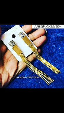 #Golden #tassel #lightweight #earrings #hanging 🎆🎆 #elegant #fashionable #pretty #girlish #stylish #trendy #designer #artificialjewellery #weddingjewelry #fashionaccessories #fashionjewelry #imitationjewellery #accessories #jewel #jewelry #trendsetter #newstyle #looksgood #lovely #Lightweightjewelry #jewellery 💥💥💥💥 NOW GET FREE SHIPPING ON PREPAID ORDERS ABOVE ₹499/-