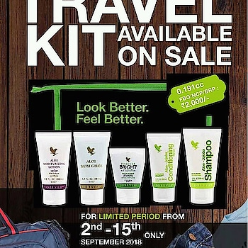 #foreverlivingproducts #travelkit.. On sale..