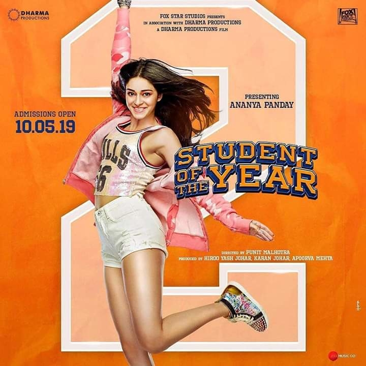 New poster of Student Of The Year 2 is out! Are you all excited to see #AnanyaPandey on-screen?  #bollywoodactress  #bollywood #starkid #styleicon #bollywoodupdates #studentoftheyear2 #karanjohar #tigershroff #tarasutaria #actress