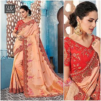 Buy Now @ https://goo.gl/q72822  Beautiful Peach Banglori Silk Ceremonial Designer Saree  Fabric- Fancy Fabric  Product No 👉 VJV-PRAG7002  @ www.vjvfashions.com  #saree #sarees #indianwear #indianwedding #fashion #fashions #trends #cultures #india #instagood #weddingwear #designer #ethnics #clothes #glamorous #indian #beautifulsaree #beautiful #lehengasaree #lehenga #indiansaree #vjvfashions #pretty #celebrity #bridal #sari #style #stylish #bollywood #vjvfashions