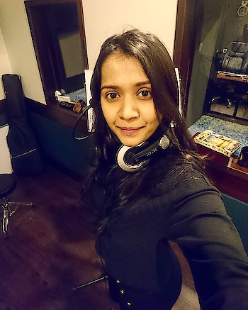 You are your only Limit!..... Work mode ON! #RECORDING #SONGWRITER #SMILE #STYLE #CUTE #SUGARZZZ #singer #beyourself #blackisbeautiful #workmode #bollywood