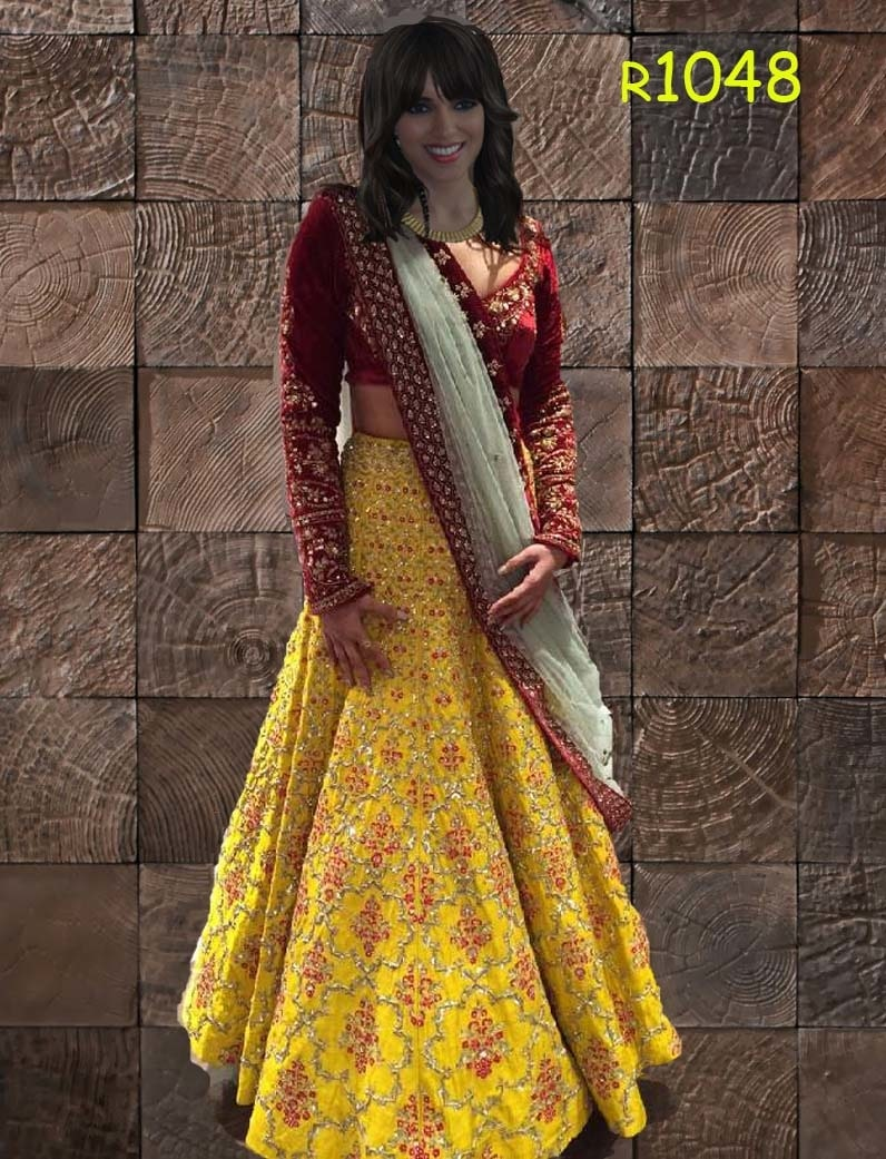 to buy chat or whatsapp +919913865910  #yellow #red #mehroon #lehengacholi