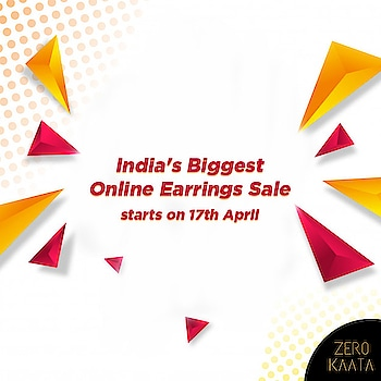 MAJOR PRICE DROP ALERT!! . . We are all set to launch India's Biggest Online Earrings Sale  Starting from 17th April  Visit www.zeokaata.com and make of a list of your favorite jewelry pieces  #earringsale #earringsaddict #bigearrings #newearrings #fashionearrings #statementearrings #dangleearrings #studearrings #pearlearrings #uniqueearrings #greenearrings #earringoftheday #hoopearrings #tasselearrings #handmadeearrings #earringscollection #earringsswag #earringsonline #earringsforwomen #stoneearrings #partyearrings #oxidizedjewellery #meenakariearrings #jewellerystore #onlinejewellerystore #jewellerystores #onlinejewelleryshoppingstore  #indianjewelleryonlinestore
