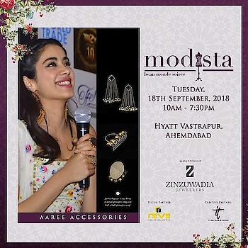 An exquisite collection of classic jewellery pieces by Aaree Accessories to bling up your festive looks. At Modista, 18th September 2018, Hyatt Vastrapur, Ahmedabad.  #aareeaccessories #accessories #earrings #glamorous #chic #festivewear #shopping #celebrityfashion #celebritystyle #janhvikapoor #bollywood #indianfashion #blogger #bloggerfashion #likeforlike #likeforfollow #likeforlikes #likeforfollowback #jewellery #fashion #shopthelook #modistadxb #lifestyle #exhibition #dubai #mumbai #ahmedabad #kanpur