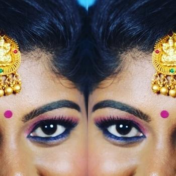 When eyes can speak!! #colortheory  #bridalmakeup #bridalmakeover #southindianbride #chennaimua #glowingskin #wingedeyeliner #falselashes #HDmakeup #macmakeup #maccosmetics #sephora #morphepalette #morphebushes #lovemyjob #abhglowkit #hudabeauty #dressyourfacelive #instabeeyou #instabride #flawlessbase #chennaiwedding #chennaimakeupartist #chennaimua #bridalmakeupartist #paletteaffaire