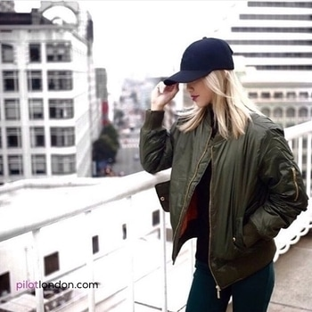 💥💣 Bomber on point 💣💥 Our fave blogger slayin' it in this cool jacket. Find it @ https://www.pilotlondon.com/collections/jackets/products/zip-detail-bomber-jacket-khaki-green #bomberjackets #fbloggers #style #shopnow #fashion #shoponline #PilotLondon