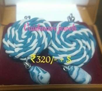 #polymerclay #candy shape #danglers. for ₹320/- + $