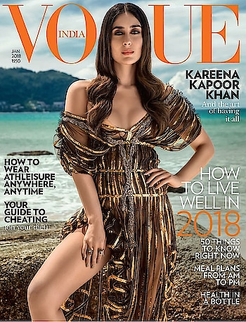 Kareena Kapoor Khan on the first Vogue cover of 2018. The woman who made pregnancy a fashion statement and  took the beauty of motherhood to epitome of grace and royalty. A woman who re-defined the life of an actress.  Cheers to the Begum of Pataudi who knows how to slay every facet of  her life in ultimate vanity and class. #kareenakapoorkhan #vogue #voguemagazine