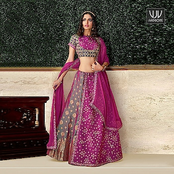 Buy Now @ http://bit.ly/VJV-AASH16211  Fabulous Magenta Color Brocade Designer Lehenga Choli  Fabric- Brocade, Silk  Product No 👉 VJV-AASH16211   @ www.vjvfashions.com