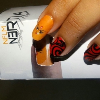 Durga Puja Nail Art Designs #nails #nail-addict #durgapuja #durga #navratri2017 #navratricollection #navratri #navratrispacial #nailsoftheday #nailartlove #nail-designs #nertia #nertia_nailwear