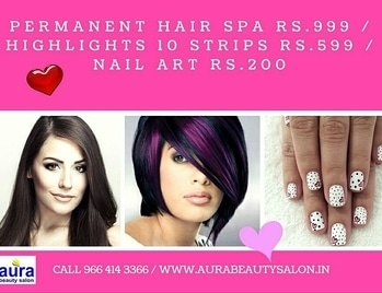 #hairhighlights #hairspa #nailartdesigns book www.AuraBeautySalon.in #mumbai