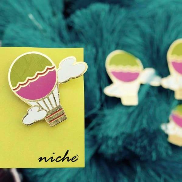 Enjoy your ride with our Hot Air Balloon Enamel pin. Available at https://www.niche-one.com/collections/pin-up  #cute #lapelpins #EnamelPins #style #fashionaccessories #blogger #hotairballoon #pins #pingame #design #accessories #hippy #travel #onlineshopping #picoftheday #wearitloveit #enjoylife