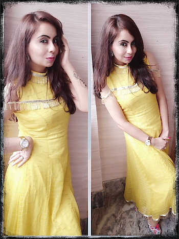 Hey girls, as wedding season is going on, So here I'm showing Six looks of wedding guest looks👸  Simple to Classy,  Traditional to Indowestern  Drapes to Lehnga's  Anarkali to Gharara Yellows to Greens Peach to Pinks  White to Pastel  Day1 - Morning look  Simple long bright yellow kurti with elegant lace detailing to it. Just a watch and round earrings with minimal makeup.  #wedding  #weddinglook  #weddingguestlook  #day1 #morninglook  #yellowkurti  #longkurti  #elegantlace #watch  #roundearrings  #minimalmakeup