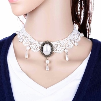 Partywear Chokers available colors = White @Rs370 + $
