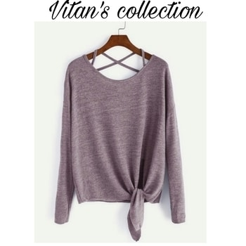 Get this stylish side knot Loose top..😍😍 Free shipping. Cod available.  Message us to know more details.  Shop link in the bio section.  #shop #shopnow #shoponline #shopaholic #shoptillyoudrop #fashion #trendy #trendsetter #girls #clothing #bestylish #befashionable #trendalert #onlinestore #vitanscollection #roposo