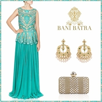 A perfect cocktail attire. #Banibatra #Bridal #Couture #Festive #Indianwear #Indianwedding #Weddings #Fashion #Trending #Banibatrabride #Custommade #Happyclients #Cocktail