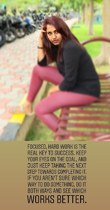 Focused, hard work is the real key to success. Keep your eyes on the goal, and just keep taking the next step towards completing it. If you aren't sure which way to do something, do it both ways and see which works better. #motivationalquotes #bemotivated  #ilovemyeyes  #bestrong  #stayfocused  #tamilponnu  #roposo-tamil  #tamil-actress  #roposobeauty  #roposoness  #roposotv  #roposolove  #sruthibaskar
