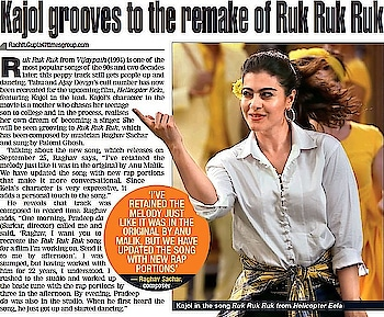 I had a fabulous time recreating the iconic song 'Ruk Ruk Ruk' by @anumalik for @pradeepsarkar Sir's upcoming movie @helicoptereela . You will be blown away by @kajol Ma'am's terrific performance on the song!!  Check out my @bombaytimes interview on this upbeat, new age recreation..