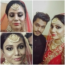 Let me also give it a try to take a selfie with the Bride. Aparna you are a beautiful bride in and out. PM for Bookings : + 918377024315 @makeupbykabir  Because you only deserve a Luxury! !  @thebeautybrigade  Snapchat : Kabiesbabies  #bridetobe #indianbride #indianbridalmakeup #indianbridalmakeupartist #macmakeup #makeup #hair #destinationwedding #makeupblogger #fashion #fashionblogger #styling #clientdiaries #realbride  #bridal