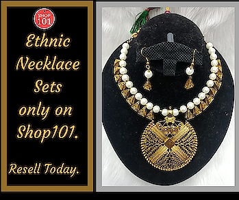Download: http://bit.ly/2D12b3g  #necklace #necklacedesigns #necklaceset #ethnicnecklace #ethnicjewellery #bridal-jewellery #jewellery #earrings #sellonline #fashion #shop101 #thebazaar #workfromhome #reseller #businesswoman #businessman #business