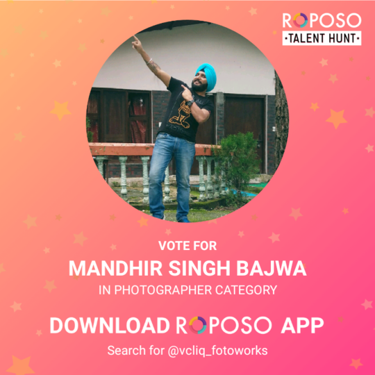 if you like my clicks then vote for me.  #roposotalenthunt #menonroposo