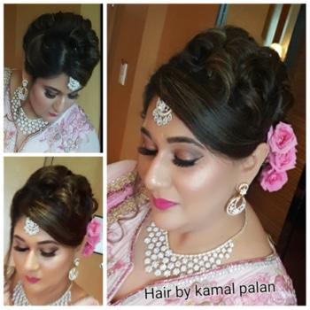 wedding hairstyle for Ekta wasan