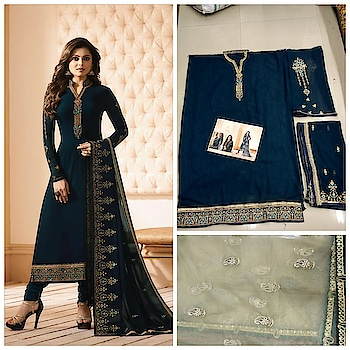 Super Hit Catalog Straight Suite* *Rate: 1625-+Shipping Cost Extra  *💯Premium quality💯* *Preference Best Quality* ---: Fabric Details: --- *Top:- Havey Gorget* Inner :- Santoon  Bottom :- Santoon  *Dupatta :-Pure (with Havey Work)* Size:-56 Inch Type :- Semi Stitched Weight :- 1kg Wash: - First Time Dry Clean  *Ready To Ship* *Single And Multiple Available*  NOW via WhatsApp on +918097775536 or +919619659727 Checkout more latest collection at ArtistryC.in  #wedding2018  #shoponline  #soroposoblogger #eidspecial #trending #uk #shoponline #USA #London #malaysia #Singapore #celebritylook