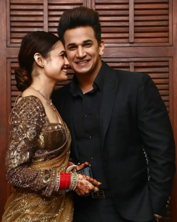 Beautiful newly married couple!!!  #roposogal #roposofashionista #roposolove #like4like #roposofam #yuvikachaudhary #princenarula #privika