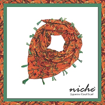 Save yourself from the sun in style with our Japanese Coral Scarf of summer collection'18.  Shop now at https://www.niche-one.com/collections/scarf/products/japanese-coral-scarf  #women-fashion #designeraccessories #fashion-blogger #wearyourstyle #vibrantcolours #women-style #hippie #scarf #summers