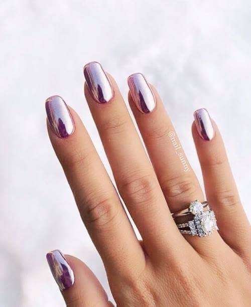 #love chrome nail.paint#stunned