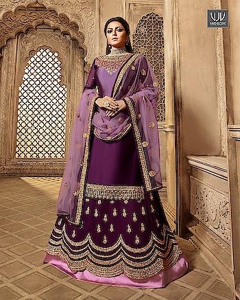 Buy Now @ http://bit.ly/NITYA3904  Drashti Dhami Purple Color Georgette Lehenga Style Suit  Fabric- Georgette  Product No 👉 VJV-NITYA3904   @ www.vjvfashions.com