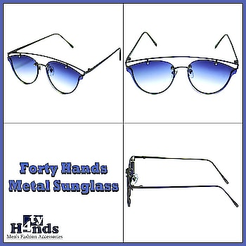 Forty Hands Unisex Metal Sunglasses. #sunglasses #sunglassesselfie #sun #sunglasseslover #contactlenses #summerready #summer #summer-style #summer-fashion #summerfashion #summer-looks