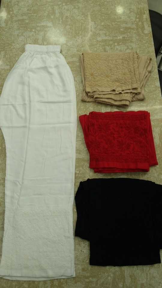 Hello everyone.. So after a long gap, I have again started selling online on the website.. I would be selling things differently, i.e. items from time to time. I am currently offering plazo pants in soft rayon fabric with chikankari jaal work at the bottom for MRP Rs751/- INR and free shipping.. This item is available in 4 colors - white, red, beige and black. http://www.shaaneawadh.com/chikankari-products.html #shaaneawadhchikankari #lucknow chikankari by shaan-e-awadh  #lucknow  #chikankari #women-fashion #womensonlineshopping #onlineshopping #womenroposo #lucknowchikankari #lucknowichikan