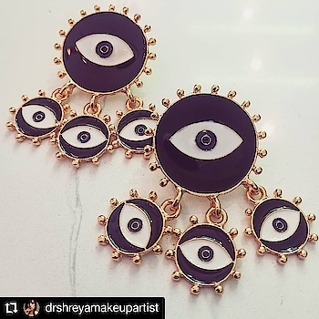 #Repost @drshreyamakeupartist • • • • • • Now that's a pair of earrings I'll wear to death!  Amazing new collection by @theredbox_official . Very #artdeco theme, isn't it? https://www.theredbox.co.in/en/product/eye-candy-dangle-earrings/ . . . . #theredbox #crazysexycool #spiceitup #earrings #amazing #newcollection #sassy #theme #evileye #jewellery #jewellerylover #shopping #fresharrival #freshlook #lookbook #fashionblogger #fashion #trendy #trending #celebstyle #getthelook #goodvibe #accessories #collection#chandigarh #fashionjewels #shopping #shopnow