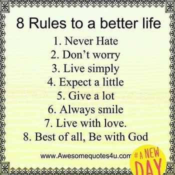nice rules.... #anewday