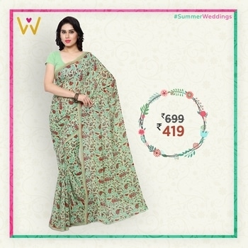 Saree has a matchless comparison when it comes to beauty, as they are the replica of the rich Indian heritage.  Find beautiful sarees and stunning designs only at WedLista.com!  Product Code: TSAND1159B  #WedLista #FashionforWeddings