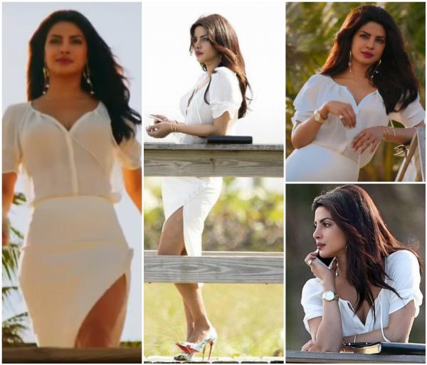 Sexy look of Priyanka Chopra in White.