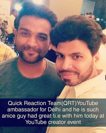 Had such a nice time with #QRT (Quick Reaction Team) at #YouTube creator event today in Delhi #YouTubeCreator #YouTubeIndia  Join me on #Instagram #Snapchat #Twitter #Roposo @AamirMudassir #Facebook @AamirVlogger #YouTube (The Liberal Indian)  #AamirMudassir #YouTuber #DelhiYoutuber #Viner #Prankster #Entertanier #TheLiberalIndian #TLI #AamirVlogger
