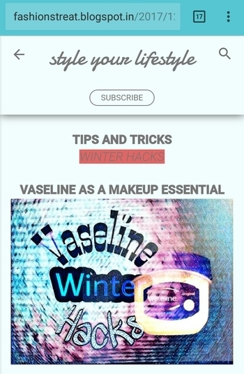 Winters and Vaseline ...... visit- fashionstreat.blogspot.com  ..#vaseline #wintermakeup #fashionstreet #hacks #vaselinehacks #be-fashionable #natural-look #delhibloggergirl #blogstyle #fashion-blogger #campusfashion #newblogpost #support #lifestyle #blogginggals #photographs #casual-clothing #wintervibes #subscribe #makeupobsessed #mishika #ropo-style