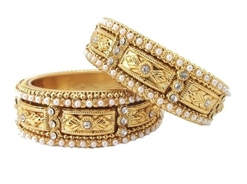 Buy these glittering & beaded bangles from WedLista.com and be a trend setter.  COD Available|Free Shipping| Easy Returns     Shop now:  Product Code: P140170_2.6     Price: Rs. 599.00  #WedLista #fashionforwedding